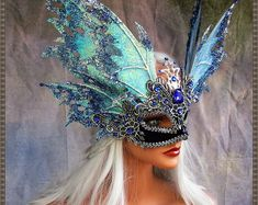 Thanx sooo much for viewing! From the timeless Realm of Fairy comes an exquisitely detailed Fairy Ma Masquerade Wedding, Masquerade Ball, Masquerade Costumes, Masquerade Party Outfit, Carnival Masks, Carnival Costumes, Eyes Wide Shut Mask, Moda Lolita, Costume Venitien