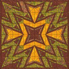 Patchwork patroon: Dubbelzijdig Log Cabin 11