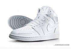 SWAG All white Jordan 1s