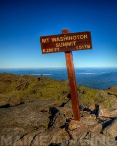 "Top of Mount Washington, New Hampshire, USA. The ""windiest place on earth""."