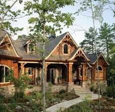 I love the modern and rustic look. I dont want a log cabin but this is close.