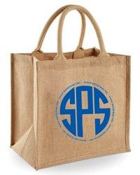 """Natural Jute Tote Bags - Jute Burlap Tote Bag made from premium strong naturally Eco-friendly materials. This tote is laminated on the inside for added strength and durability. Features a large 8"""" gusset with 12"""" webbed rope handles. Great for markets, shopping, branding, gifts, trade shows, meetings, events, weddings and giveaways. Jute is naturally Eco-friendly, recyclable and biodegradable from renewable source."""