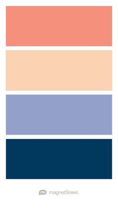 Coral, Peach, Periwinkle, and Navy Wedding Color Palette - custom color palette created at MagnetStreet.com