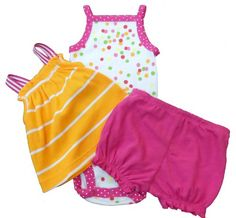 Carter's Girls Pink Polka Dot Three Piece Clothing « Clothing Impulse
