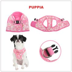 Puppia Buttercup Step-In Dog Harness Vest https://www.ruffloveshop.com/brand/puppia/
