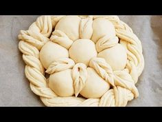 Beautifully braided flower wreath bread from yeast dough Savory Donuts Recipe, Donut Recipes, Dessert Recipes, Cooking Recipes, Bulgarian Recipes, Croatian Recipes, Festive Bread, Macaroni Recipes, Christmas Deserts