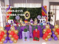 DESCENDENTES decoração provençal mesa bolo festa aniversário