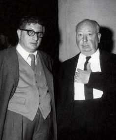 Bernard Herrmann and Alfred Hitchcock; Hermann was one of the greatest film composers of all time; with Hitchcock-North by Northwest, Vertigo, Marnie, The Trouble with Harry, The Man Who Knew Too Much, and the  strings only Psycho; also did great sci-fi/fantasy work on Fahrenheit 451, The Day the Earth Stood Still, Journey to the Center of the Earth, 7th Voyage of Sinbad, Mysterious Island; and Orsen Welles' Citizen Kane; won Oscar for The Devil and Daniel Webster.