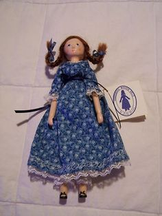 "Judy Brown Hand Carved ""Little Rosie"" Doll"
