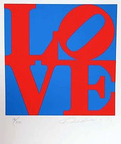 Robert Indiana's 'Love' (Red/Blue)