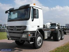 2 units Mercedes ACTROS 4041-A 6x6  chassis cabin - NEW  Price: € 102.500,-  Axles: 6x6  Emission: Euro 3  Cabin: medium cabin  HP/KW: 410 HP / 306 Kw  Gearbox: Manual gearbox  Suspension: steel spring  More information: http://www.pktrucks.com/stock/view/me2701