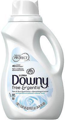 Downy Ultra Fabric Softener Free Gentle 34 Oz Ultra Downy Fabric Conditioner Downy Liquid Fabric Softener