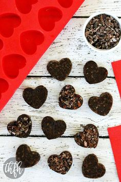 Raw Vegan Chocolate Fudge Caramel Hearts...easy no-bake treats made with only 4 ingredients and they're raw, vegan, gluten-free, dairy-free, paleo-friendly and contain no refined sugar | The Healthy Family and Home