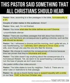 I love this! There is no reason to judge just because you believe that the way someone is living their life is wrong. It's their life, not yours to judge. Jesus was friends with prostitutes and tax collectors.