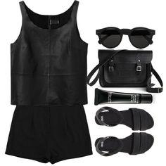 "Minimal + Classic: ""All black"" by maartinavg on Polyvore"