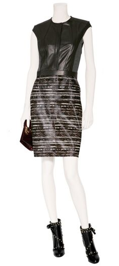 Derek Lam striped leather dress