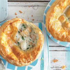 Cod, haddock and parsley pot pies