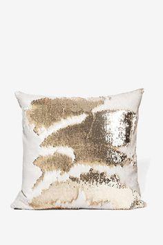 Aviva Stanoff Champagne Mermaid Sequin Pillow - All Things Glitter | All | Sequins & Glitter