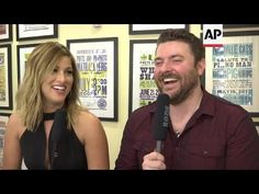 Hahahaha.....Hear what REALLY happened when she was late to the stage ;) Lol AP: Cassadee Pope & Chris Young talk about their #1 hit, Think Of You (#...