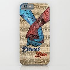 Holding Hands,Eternal Love,Space Dictionary Art iPhone & iPod Case