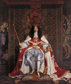 Charles II at his Coronation
