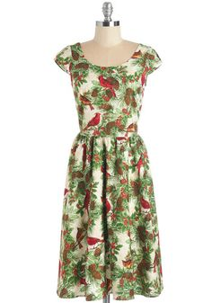 Wreathed in Radiance Dress. In this vintage-inspired frock, hanging holiday wreaths is merry! #multi #modcloth