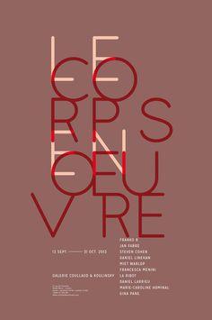 lecorpsenoeuvre poster by Les produits de l'épicerie