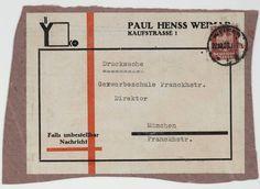 Joost Schmidt. YKO, Paul Henss Weimar. c. 1926