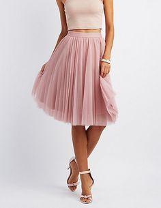 Tulle Full Midi Skirt #charlottelook