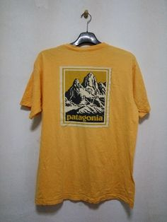 Vintage Patagonia Size M medium Made In USA Yellow Colour by GoShopVintageStore on Etsy