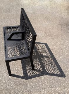 Chairs augmented reality sundial bench 'shadow memories' by joshua barnes at Urban Furniture, Street Furniture, Design Furniture, Metal Furniture, Cheap Furniture, Garden Furniture, Chair Design, Outdoor Furniture, Outdoor Decor