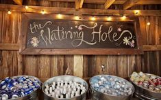 No beer or wine for our wedding but love this idea