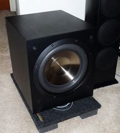 The capabilities of F12 #subwoofer include a #volume #control, adjustable…