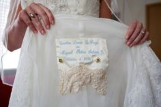 personalized embroidered wedding dress