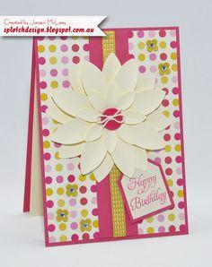 Splotch Design - Jacquii McLeay - Stampin Up - Blossom petals builder card