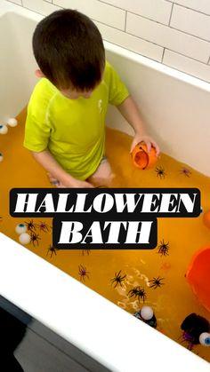 Halloween Toys, Halloween Activities For Kids, Halloween Themes, Halloween Birthday, Autumn Activities, Toddler Halloween, Toddler Fun, Toddler Learning, Sensory Activities
