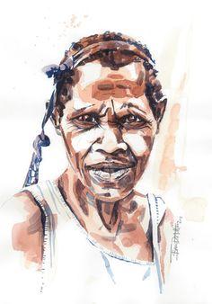 Sepik Woman, Papua New Guinea – Isaac Hatton Art