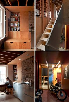 Revealing the inner workings and structural underpinnings of the London home, this reformatted layout features wood and plywood in an unusually open way and thus also provides more natural light throughout. Jonathan Tuckey Designadded skylights and open-frame walls and ceilings to help inside  ...