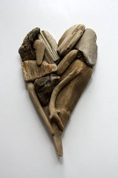 driftwood heart Valentine made from natural driftwood by Yalos