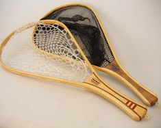 Fly Fishing Landing Net - Oxbow Model - Handcrafted in Wisconsin - Ready to Ship Gift Fly Fishing Net, Best Fishing, How To Bend Wood, White Lake, Wood Fish, Fly Rods, Shaker Style, Landing, Model