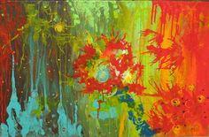 "Saatchi Online Artist: Nancy Vallance; Acrylic, 2008, Painting ""The Beginning"""