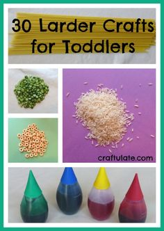 30 Larder Crafts for Toddlers - Craftulate