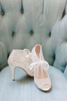 I'm not sure how vintage the high heels are but the lace and ribbon tie is