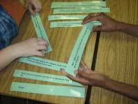A fun way to get students to look at sequence and order when writing. I always use this as a hands-on activity before we really dive into our writing.