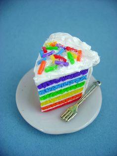 Rainbow Cake Slice by monsterkookies on DeviantArt