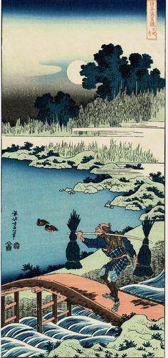 """ukiyoecosmos:  Японской Укие-э гравюра, Хокусай , """"в собирателя осоки"""" по TakahashiHangado (6500.00 йен) http://ift.tt/1Odf1sH"""