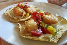 Dinner: A Love Story : shrimp tacos with mango salsa Fried Fish Tacos, Fried Shrimp, Shrimp Tacos, Love Food, A Food, Taco Dinner, Fish Plate, Mango Salsa, Main Meals