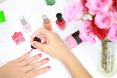 The Least Toxic Nail Polish and Nail Care Products via eHow Style. I'd also suggest Acquarella waterbased polishes.