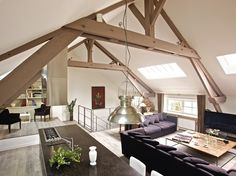 Remodeled barn in  Normandy, France = love!!!