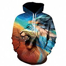 Lion Printed Hoodies Men Women Autumn Spring Sweatshirts 3D Tracksuits Male Pullover
